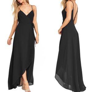 "SMYM ""Mariah"" Wrap Dress in Black Chiffon"
